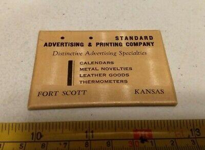 Vintage Standard Advertising & Printing Company Fort Scott Kansas Pocket Mirror