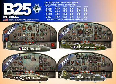 B25 MITCHELL COCKPIT instrument panel CDkit