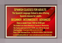 SPANISH CLASSES FOR ADULTS - 24 YEARS SERVING REGINA RESIDENTS