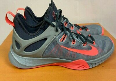 Nike Zoom Hyperrev Mens Basketball shoes, size 8.5, grey and neon pink