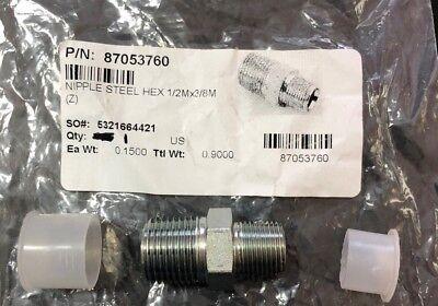 12 X 38 Npt Hex Reducing Male Nipple Steel Part 87053760 Hotsy Landa