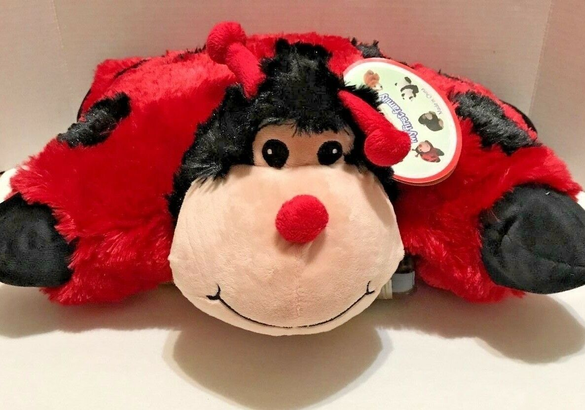 "18"" inch Miss Lady Bug Pillow Pets Perfect gifts. !! Star Gi"