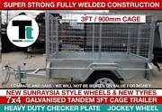 7x5 Heavy Duty Galvanised Single Axle Box 3ft Cage Trailer Thomastown Whittlesea Area Preview