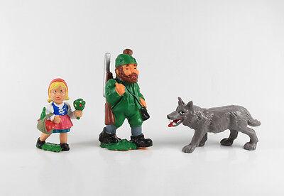 Rotkäppchen und der Wolf === 3 x Märchen Figuren Fa. Alfred Fischer