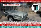 6x4 Heavy Duty Galvanised Single Axle with 3 ft Cage Box Trailer