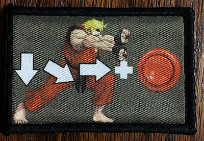 Street Fighter Ken Hadouken Morale Patch  Tactical Military Army Badge Hook Flag, usado segunda mano  Embacar hacia Argentina