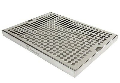 Kegco Sesm-129d Stainless Steel 12 X 9 Surface Mount Drip Tray With Drain