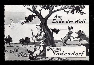 AK BUNDESWEHR HUMORKARTE: GRUß AUS TODENDORF - AM ENDE DER WELT