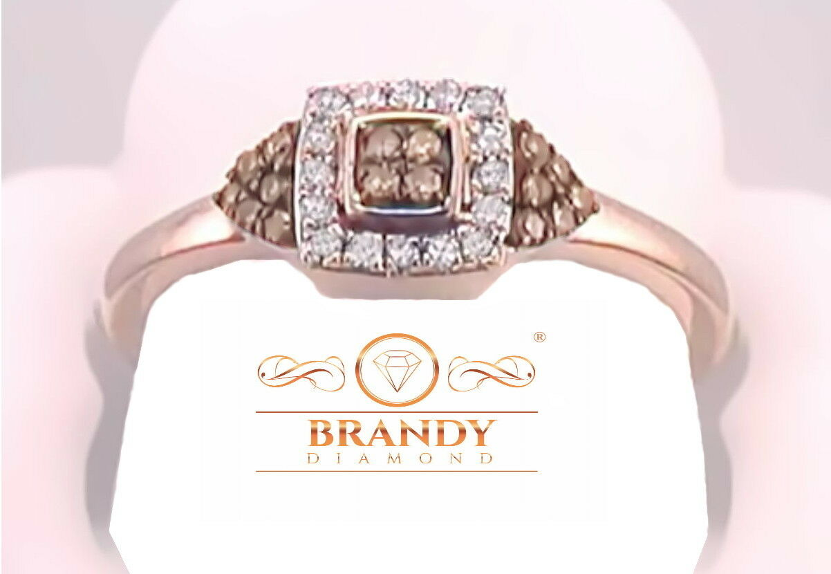Brandy Diamond® Chocolate Brown 10K Rose Gold Amazing Princ