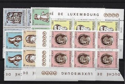 LUXEMBOURG SG829/34, 1968 NATIONAL WELFARE FUND MNH X 6 SETS, CAT £36+