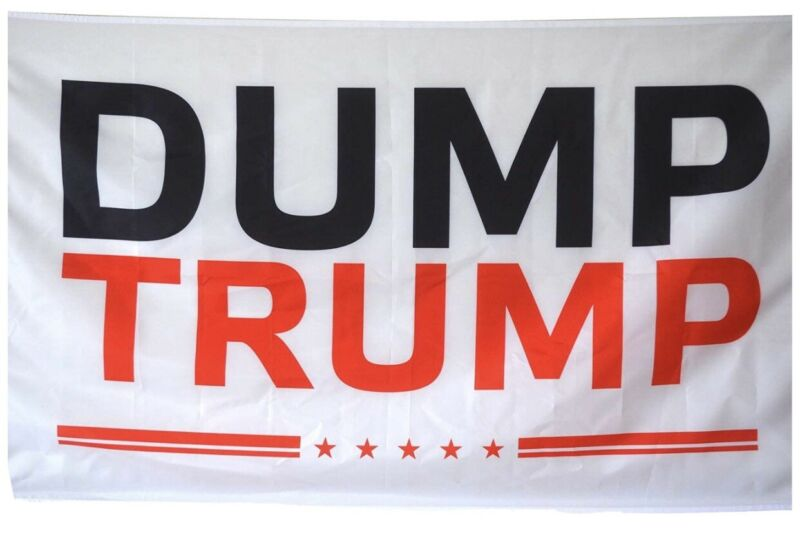 Dump tRump flag 3X5 w/ 2 grommets