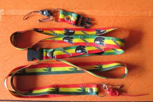 2 pcs. Lanyard Neck Strap Bob Marley Jamaica Freedom