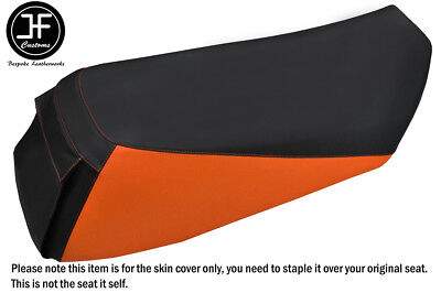 BLACK & ORANGE VINYL CUSTOM FITS ARCTIC CAT 800 700 600 RMK M8 05-11 SEAT COVER