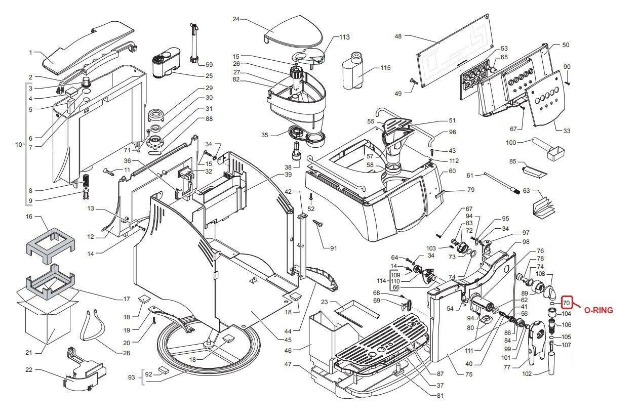 Siemens Brühgruppe für Saeco Magic Bosch Stratos ohne O-Ring Office Royal