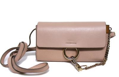 New Chloe Mini Faye Cement Pink Leather WOC Messenger Bag