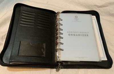 Black Franklin Covey 365 Organizer Zipper Planner 10.5 X 7 W Inserts 7 Ring