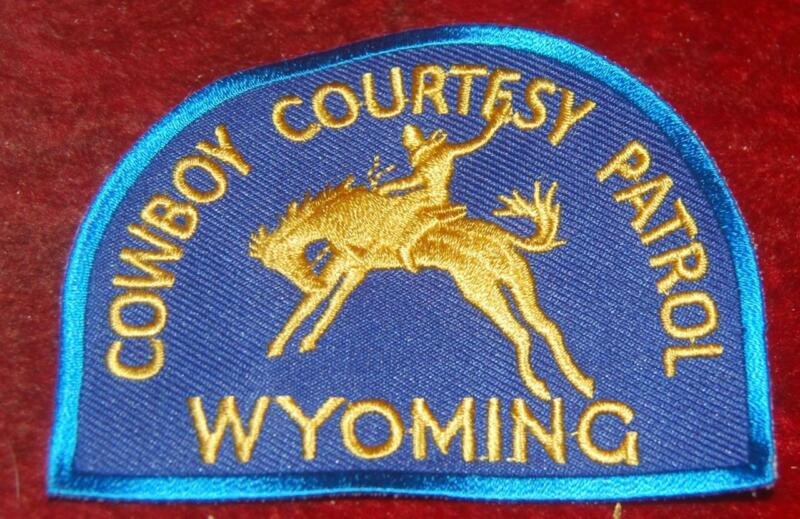 Early Wyoming Highway Patrol Cowboy Courtesy Patrol Patch Free Ship