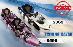 2.7M Single 3.7M Double Sit-On Fishing Kayak Seat Paddle Package Surfers Paradise Gold Coast City Preview