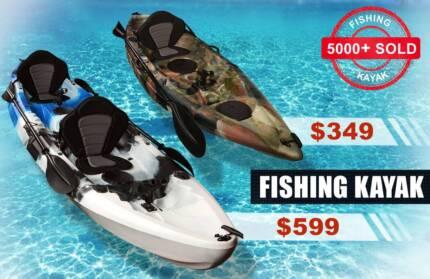 2.7M Single 3.7M Double Fishing Kayaks Seats Paddles Recreational