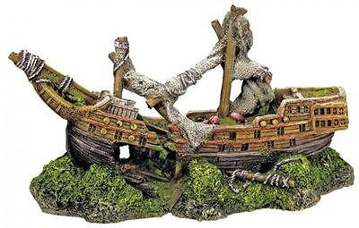 Aquariendekoration mit Höhle Dekor Schiff Piratenschiff (Piratenschiff Dekor)