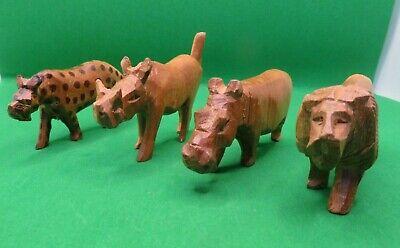Hand painted Wood Animal Beads 11pc lot Safari Creatures