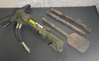 Stanley Hydraulic Tools 1-14 Breaker Demolition Jack Hammer Br67130m W Bits