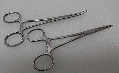 2 Pcskelly Hemostatic Forcepsstraightcurved5.5hemostat Surgical Instruments