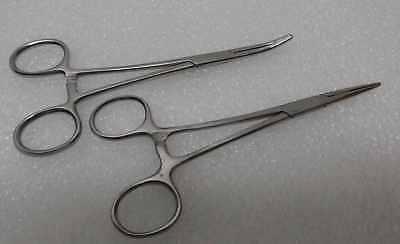 2 Kelly Hemostat Locking Forceps Straightcurved 5.5 Surgical Instruments