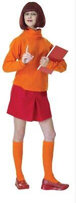 Scooby-Doo Erwachsene Damen Velma Kostüm Standard Größe 10-14 ()