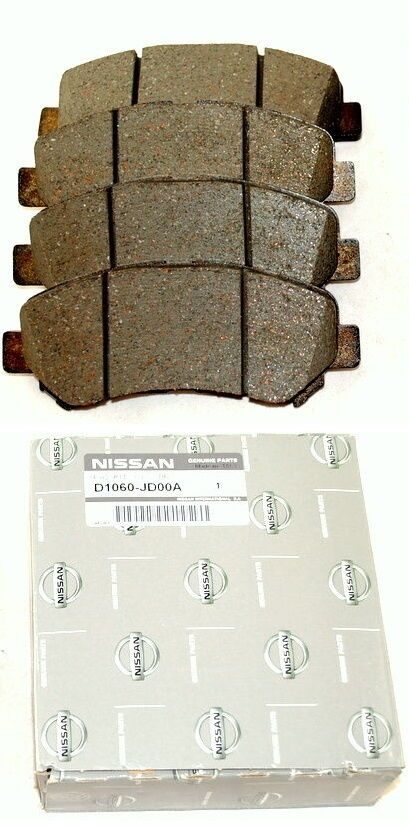 2 Front Brake Pads D1060JD00A Genuine Nissan Qashqai /&