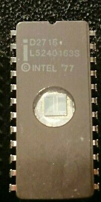 Lot of 3 MOSTEK 2716J-8 24 PIN CERAMIC DIP EPROMS USED Tested  Vintage