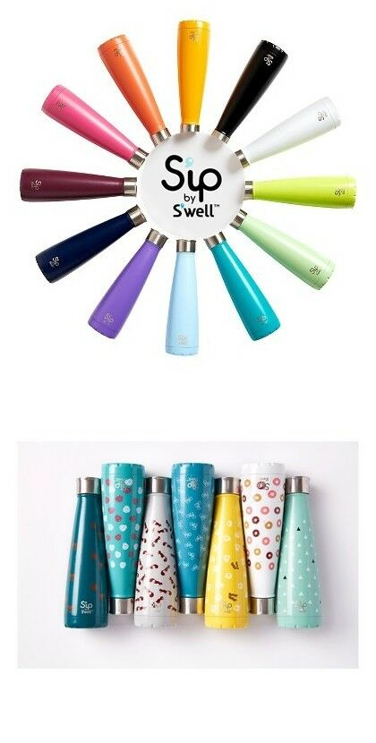Sip by S'well 15oz Stainless Steel Insulated Hydration Doubl