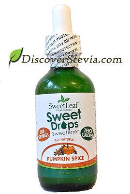 Sweet Leaf Sweet Drops Sweetener Liquid Stevia 2 oz Pumpkin Spice ZERO Calories