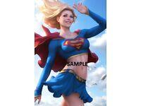 "Set Of 20 Stanley Lau Art 6/"" x 4/"" Photo Prints  Artgerm  Supergirl  Powergirl"