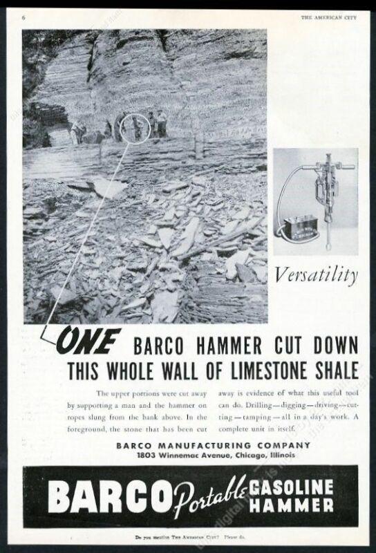 1937 Barco jack hammer gasoline hammer demolition photo trade print ad 3