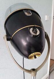 Vintage French Hairdryer converted lamp 50s French Hairdresser Salon Dryer Tripod Wheels