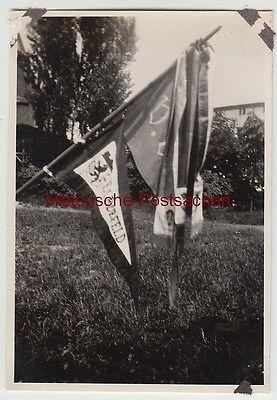 (F12420) Orig. Foto Aachen, Gedenkfeier a.d. Ehrenfriedhof 1931, Flagge Elberfel