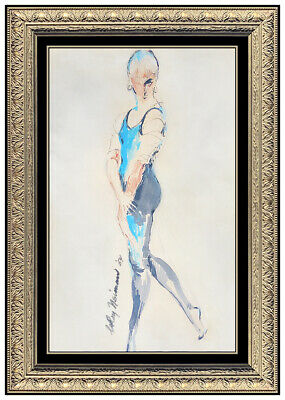 LEROY NEIMAN Original Watercolor Painting AUTHENTIC Female Signed Dance Art oil