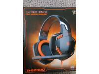 Gaming headset blue