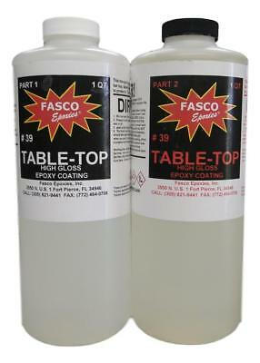 Table Top - Bar Top Epoxy Coating  1/2 gallon kit