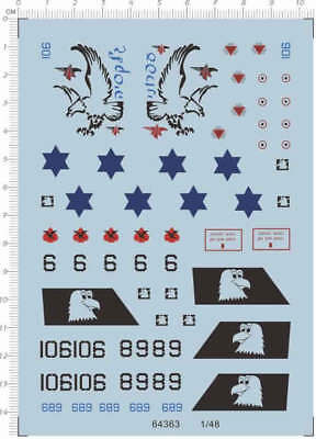 Water Slide Decal 1/48  IAF F-15  (64363) for sale  China