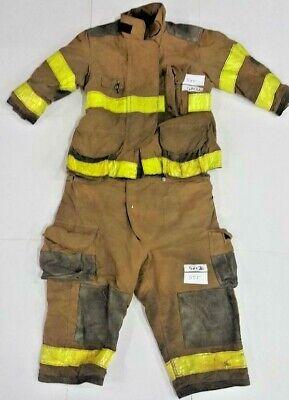 Firefighter Set Brown Turnout Jacket 52x32 S Pants 52x26 Janesville S55