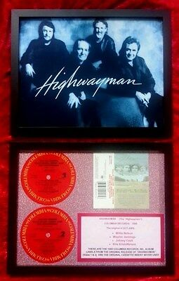 HIGHWAYMEN - Original Record Labels,  Cassette Insert,  Photo: Waylon, Willie, J