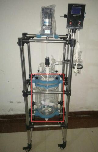 1* jacketed vessel of 10L Chemical Laboratory Jacket Glass Reactor ex