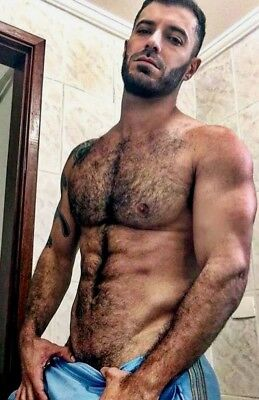 Shirtless Male Beefcake Muscular Hot Body Gym Jock Hairy Chest PHOTO 4X6 F1427