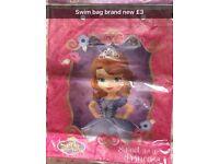 Disney Sophia swim bag new
