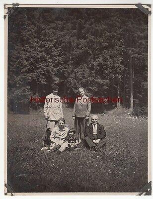 (F12697) Orig. Foto Gehlberg / Thür. 1930, Ausflug im Hungertal m. Bürgermeister