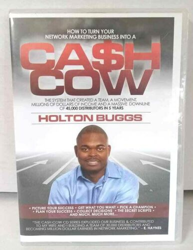 How To Turn Your Network Marketing Into A CA$H COW  (4 CD) Holton Buggs