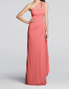 Coral Reef Pink Bridesmaid Gown from Davids Bridal