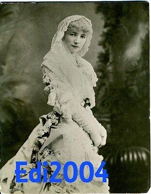 SARAH BERNHARDT Vintage Original 6 X 8 Photo W. & D. DOWNEY RARE 1883 Portrait